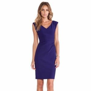 DvF Ruched-Waist Sheath Dress in Purple Haze